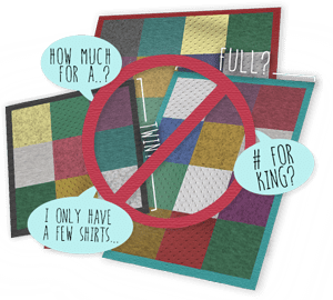 Focus on the most important shirts for your thsirt quilt