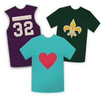 Shirts can be turned into a custom blanket t-shirt quilt