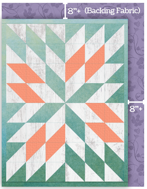 Prep your quilt top by measuring the backing