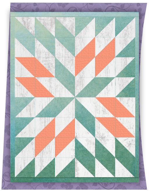 Unsquare backing fabric with quilt top for an example