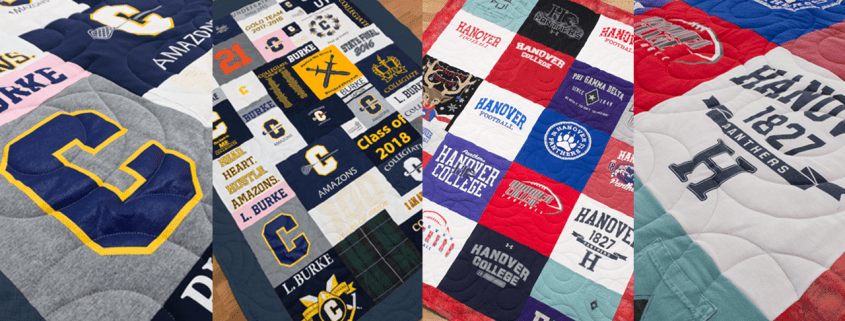 Mosaic and Traditional T-Shirt Quilt Examples