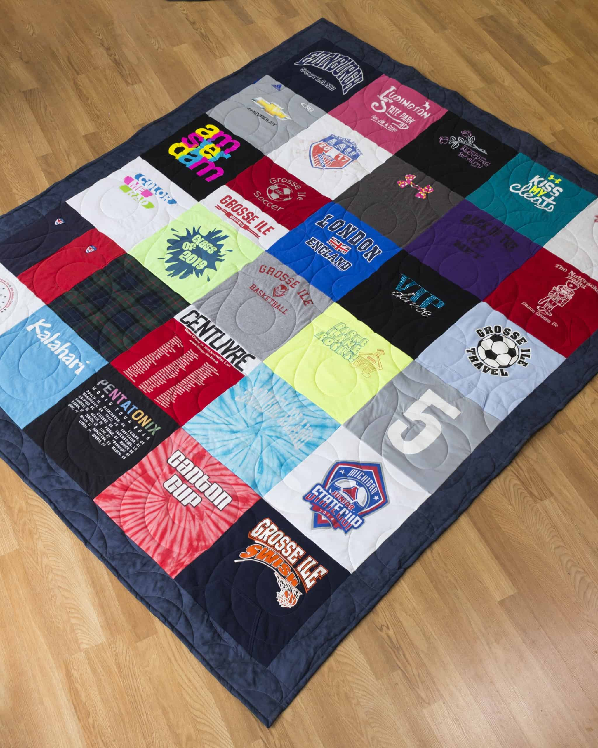 Quilt shown has a Traditional Layout, which looks like a grid